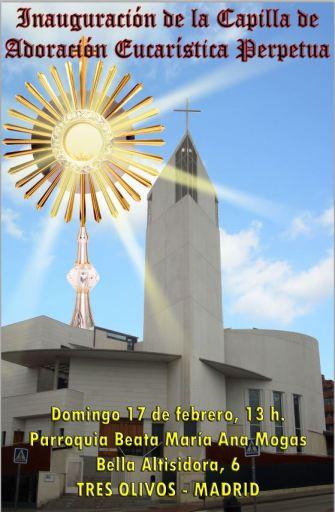 Cartel adoración permanente